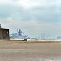 Teeside from Redcar beach, Редкар