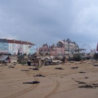 film set on redcar beach, Редкар