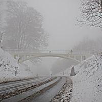Winter weather, Reigate Hill footbridge, Рейгейт