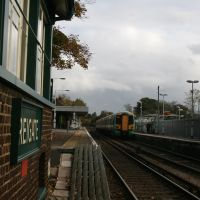 Where the volts run out, Reigate station, Surrey., Рейгейт