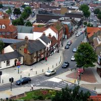 Rayleigh High Street taken from the Holy Trinity Church tower 2008, Рейли