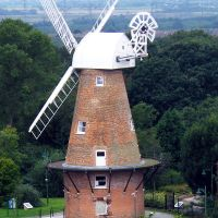 Rayleigh Windmill from the Holy Trinity Church Tower 2008, Рейли