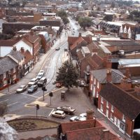 Early view of Rayleigh High Street from the church tower, Рейли