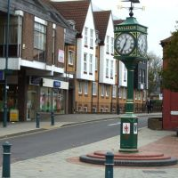 Clock in Rayleigh High Street, Рейли