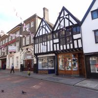Rochester - High Street (Bull Hotel mentioned in Charles Dickens novels) - Kent (England), Рочестер