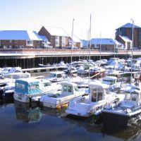 Roker Marina : Sunderland : Snow, Сандерленд