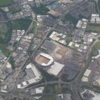 St Helens RLFC stadium under construction - aerial view, Сант-Хеленс