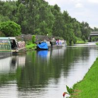 Narrow boats - Bridgewater Canal - Urmston, Trafford M32 8, England, United Kingdom, Сейл