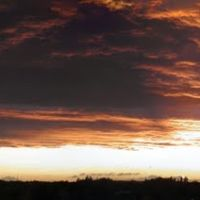 Sunset over North Tees Hospital, Стоктон-он-Тис