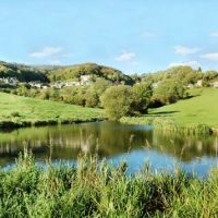 Pond at Ruscombe Farm, Строуд