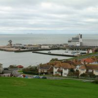 Folkestone harbour from Martello tower No3, Фолькстон