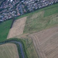 View Over Formby & The River Alt From A Microlight., Формби