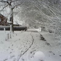 hooks lane covered in snow, Хавант