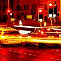 Ringroad at night, Хаддерсфилд