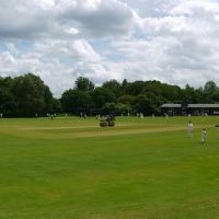 Harpenden Common; cricket practice, Харпенден