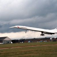 Concorde touch and go at Hatfield 1988, Хатфилд
