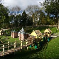 Bloody Hollow, the new play area at Hatfield House, Хатфилд