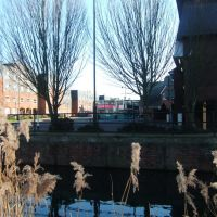 Hertford Bus Station, from Folly Island, Hertford, Хертфорд