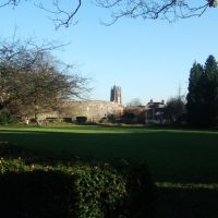 Hertford Church from Hertford Castle grounds, Хертфорд