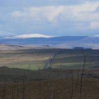 the distant Cheviot mountains...., Хид