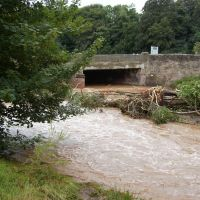 wooler in flood...july09, Хид
