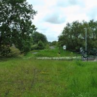 Lkn S down the Whelley Loop at site of former Amberswood Station., Хиндли