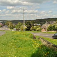 Ecclesfield Road scene seperated by grass verge looking towards Chapeltown, Sheffield S35, Чапелтаун