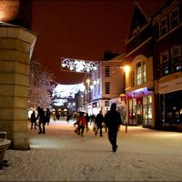 Chelmsford Highstreet Under Snow, Челмсфорд