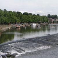 River Dee from the old Dee Brigde to Handbridge, Честер