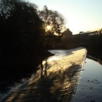 Kelham Island Weir just after sunrise, Sheffield S3, Шеффилд