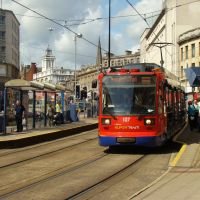 Supertram at Fitzalan Square/Ponds Forge tramstop, Sheffield S1, Шеффилд