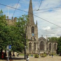 Sheffield Cathedral (church of St. Peter & St. Paul), Church Street, Sheffield S1, Шеффилд