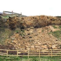 Rock fall at Wrose Hill upper quarry, Шипли