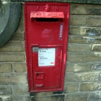 VR wall box, Belmont Terrace, Shipley, West Yorkshire., Шипли