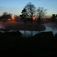 Mist rising from the River Braid, Ballymena, Баллимена