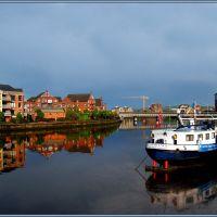The River Lagan in BELFAST (IRELAND)..............a Lagan folyó Belfastban (2), Белфаст