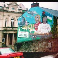 Derry, murales, Irlanda del Nord, maggio 2002, Лондондерри