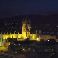 Newry Cathedral N. N.Ireland at night, Ньюри