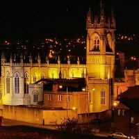Newry Cathedral at Night, Ньюри