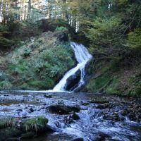 water fall. Hafod estate, Мертир-Тидвил