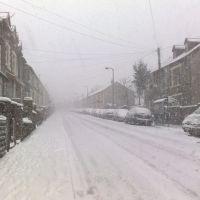 North Road in the snow, Рондда