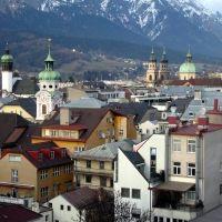 Innsbruck - Rathaus Galerien - Ausblick Richtung NO, Инсбрук