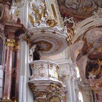 Innsbrück - Austria - Wilten - Basílica - Púlpito - ecm, Инсбрук
