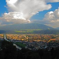 AUT Innsbruck City & [Inn] from Hungerburg (Neuer Hungerburgbahn) Panorama by KWOT, Инсбрук