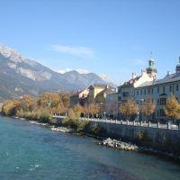Lungofiume Inn a Innsbruck - Austria, Инсбрук