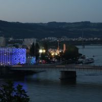 Ars Electronica Center AEC in Blue, Линц