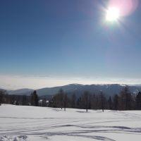Blick von der Krucken auf das Nebelmeer in Klagenfurt, Виллач