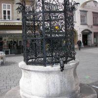 Wiener Neustadt - Hauptplatz, Schrauthamerbrunnen, Венер-Нойштадт