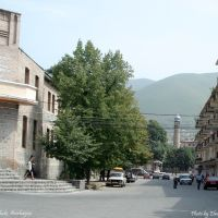 View to Mosque, Sheki, Дальмамедли