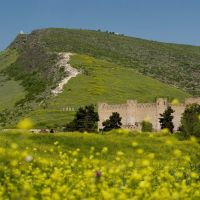 Republic of Mountainous Karabakh. Fortress-museum of the armenian antique city of Tigranakert and Vankasar church on a background., Казах